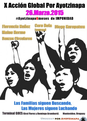 Acción Global por Ayotzinapa: 6 meses de impunidad