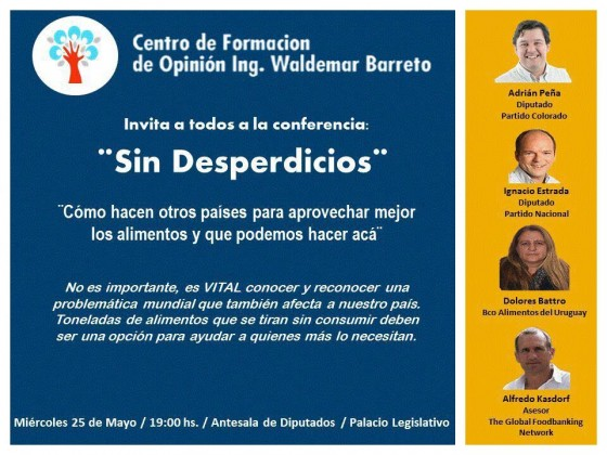 "Conferencia ""Sin desperdicios"""